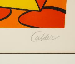 Alexander Calder Red and Yellow Geometric Lithograph Print by Alexander Calder signed - 1110640