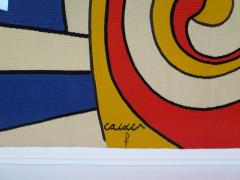 Alexander Calder tapestry Trois Spirales - 994224
