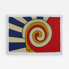 Alexander Calder tapestry Trois Spirales - 994939