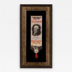 Alexander Hamilton Stevensgraph Ribbon Made to Celebrate Paterson NJ - 639641