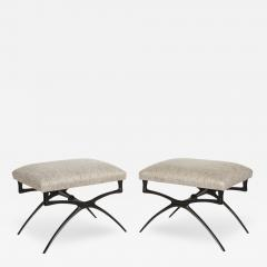 Alexandre Loge Pair of Sculptural Atlante Benches By Alexandre Log  - 148124