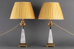 Alexandre Vossion AIKO 2 Pair of Rock Crystal lamp - 1397827