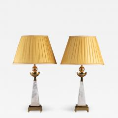 Alexandre Vossion AIKO 2 Pair of Rock Crystal lamp - 1400252