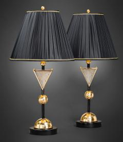 Alexandre Vossion DIADEM Pair of Rock Crystal table lamps - 1397850