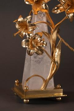 Alexandre Vossion FLOWER LAMP Rock Crystal table lamp - 1397821