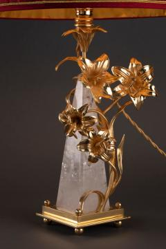 Alexandre Vossion FLOWER LAMP Rock Crystal table lamp - 1397822