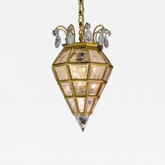 Alexandre Vossion LANTERNE Rock crystal and bronze pendant - 1261699