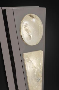 Alexandre Vossion MOON I SILVER EDITION Pair of Rock Cristal wall lights - 1990183