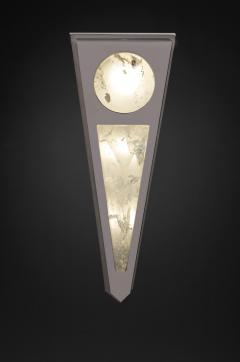 Alexandre Vossion MOON I SILVER EDITION Pair of Rock Cristal wall lights - 1990184