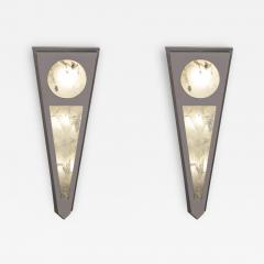 Alexandre Vossion MOON I SILVER EDITION Pair of Rock Cristal wall lights - 1995191