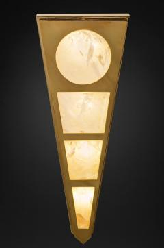 Alexandre Vossion MOON II GOLD EDITION Pair of Rock Cristal wall lights - 1990140