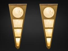 Alexandre Vossion MOON II GOLD EDITION Pair of Rock Cristal wall lights - 1990142