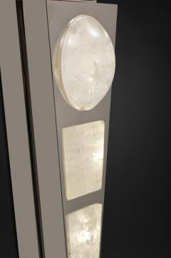 Alexandre Vossion MOON II SILVER EDITION Pair of Rock Cristal wall lights - 1990164