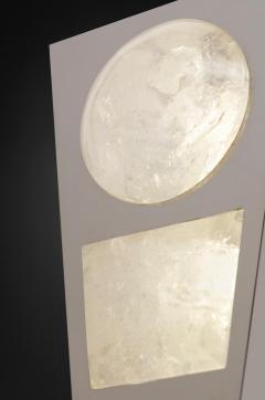 Alexandre Vossion MOON II SILVER EDITION Pair of Rock Cristal wall lights - 1990167