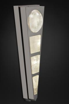Alexandre Vossion MOON II SILVER EDITION Pair of Rock Cristal wall lights - 1990168