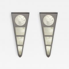 Alexandre Vossion MOON II SILVER EDITION Pair of Rock Cristal wall lights - 1995190