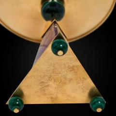 Alexandre Vossion PYRAMID AMETHYST CHALICES Pair of amethyst and 24K gold plated brass bowls - 2097975