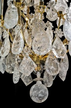 Alexandre Vossion ROCK CRYSTAL LOUIS THE XV TH STYLE CHANDELIER  - 772578