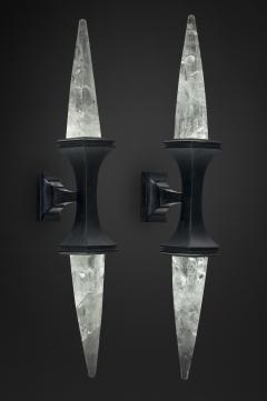 Alexandre Vossion ROCK CRYSTAL WALL LIGHT I BLACK EDITION - 772447
