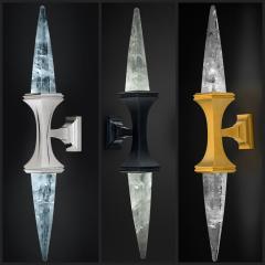 Alexandre Vossion ROCK CRYSTAL WALL LIGHT I BLACK EDITION - 772450