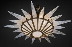 Alexandre Vossion Rock crystal Dream Lighting antique brass edition - 870797