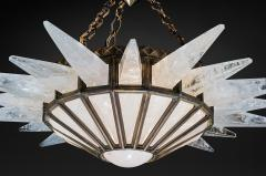 Alexandre Vossion Rock crystal Dream Lighting antique brass edition - 870798