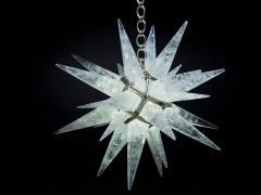 Alexandre Vossion Rock crystal STAR I chandelier nickel edition - 879564