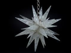 Alexandre Vossion Rock crystal STAR I chandelier nickel edition - 879565