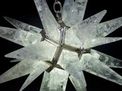 Alexandre Vossion Rock crystal STAR I chandelier nickel edition - 879566