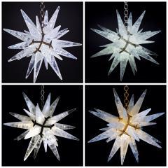 Alexandre Vossion Rock crystal STAR I chandelier nickel edition - 879569
