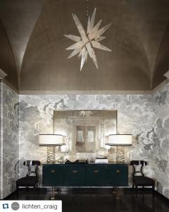 Alexandre Vossion Rock crystal STAR I chandelier nickel edition - 879575