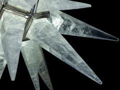 Alexandre Vossion Rock crystal STAR I chandelier nickel edition - 879580