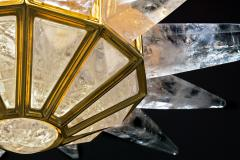 Alexandre Vossion Rock crystal SUNSHINE II lighting MODEL GOLD edition - 893896