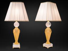Alexandre Vossion Rock crystal pair of lamps - 778979
