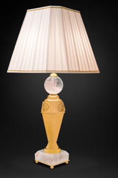 Alexandre Vossion Rock crystal pair of lamps - 778980