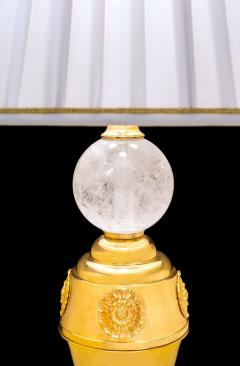 Alexandre Vossion Rock crystal pair of lamps - 778981