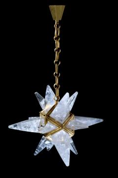Alexandre Vossion Rock crystal star II chandelier Gold edition - 914664