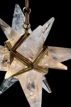 Alexandre Vossion Rock crystal star II chandelier Gold edition - 914667