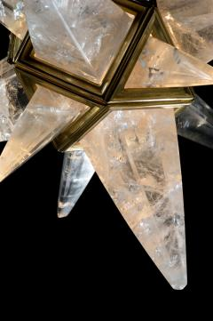 Alexandre Vossion Rock crystal star II chandelier Gold edition - 914669