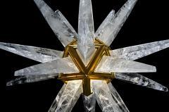 Alexandre Vossion STAR III Rock Crystal Chandelier - 1258317