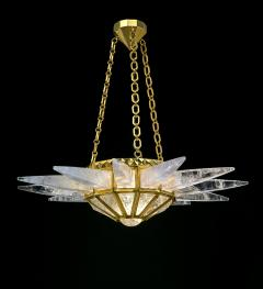 Alexandre Vossion SUNSHINE II Rock crystal lighting Nickel or Gold edition - 1258286