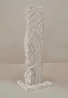 Alexei Kazantsev Post War Design White Marble Abstract Female Figure - 478939