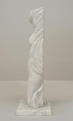 Alexei Kazantsev Post War Design White Marble Abstract Female Figure - 478941