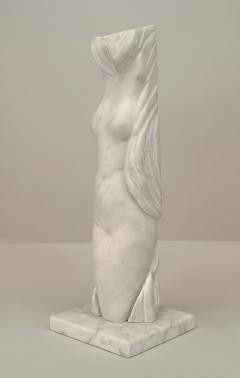 Alexei Kazantsev Post War Design White Marble Abstract Female Figure - 478942