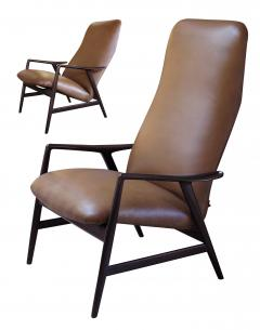 Alf Svensson A Danish Modern Alf Svensson for Fritz Hansen Reclining Lounge Chair - 310021