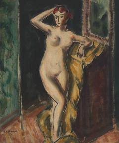Alfred Henry Maurer Standing Female Nude double sided c 1925 - 84028