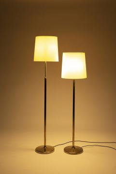Alfred M ller Pair of Amba floor lamps with brass base new lampshade 40s - 1764028