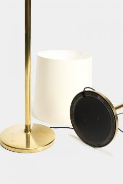 Alfred M ller Pair of Amba floor lamps with brass base new lampshade 40s - 1764061