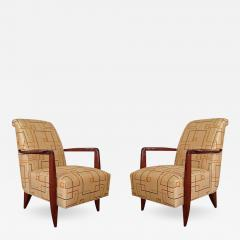 Alfred Porteneuve Pair of Art Deco Armchairs - 503879