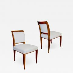 Alfred Porteneuve Pair of elegant Sycamore Chairs by Alfred Portneuve - 1169550
